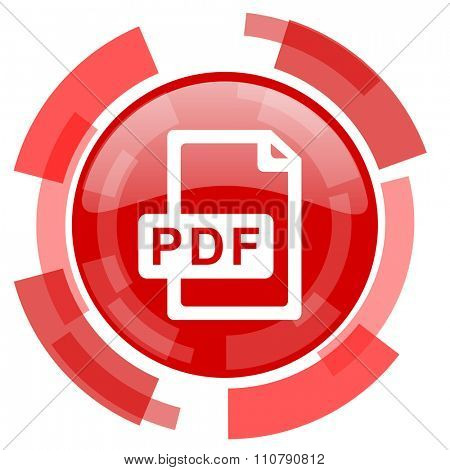 pdf file red glossy web icon
