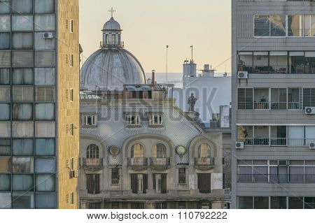 Montevideo Buildings Aerial View