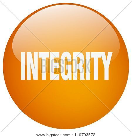 Integrity Orange Round Gel Isolated Push Button