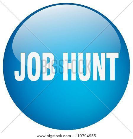 Job Hunt Blue Round Gel Isolated Push Button