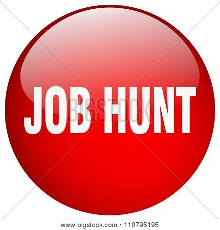 Job Hunt Red Round Gel Isolated Push Button