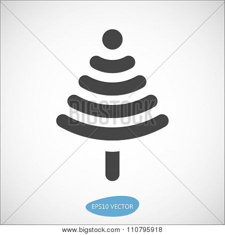 Funny Christmas tree icon based on wireless symbol
