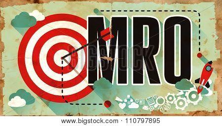 MRO Concept. Poster in Flat Design.