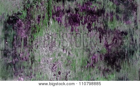 Wood Board Abstract And Grunge Vintage Background, Purple N Green.
