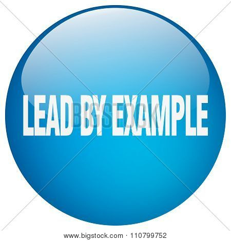 Lead By Example Blue Round Gel Isolated Push Button