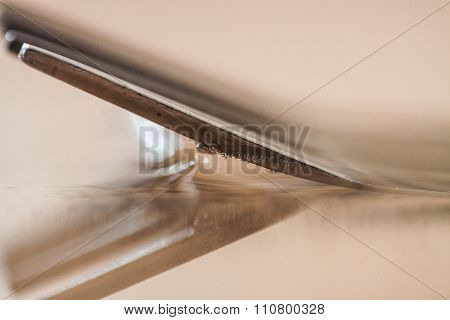 surface tension between fork and water
