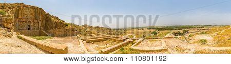 Persepolis and royal tomb panorama