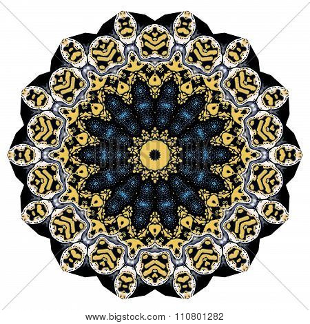 Beautiful abstract kaleidoscopic picture  can be used as interior pattern or clothes pattern.