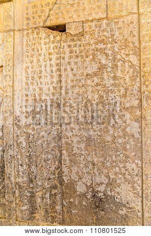 Cuneiform letters Persepolis