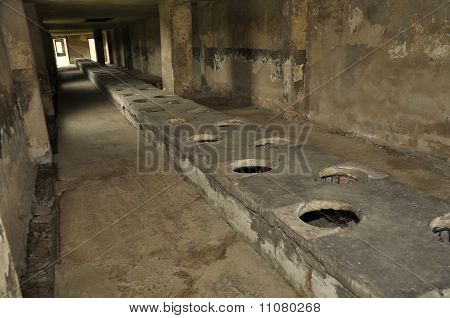 concentration camp toilets