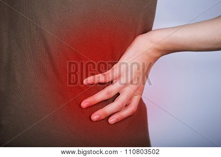 Little girl with back pain