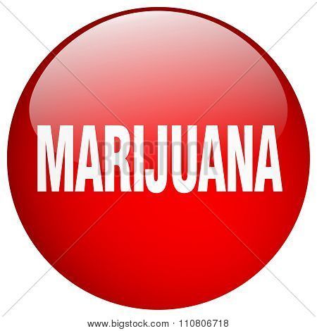 Marijuana Red Round Gel Isolated Push Button