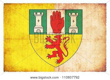 Grunge Flag Of Antrim (ireland)