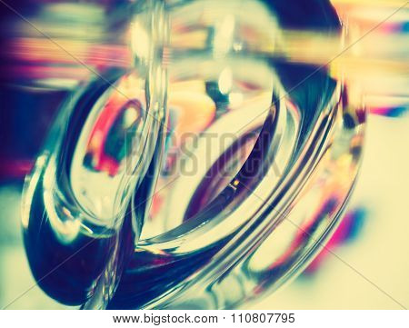 Vintage Photo Of Thick Glass Abstraction