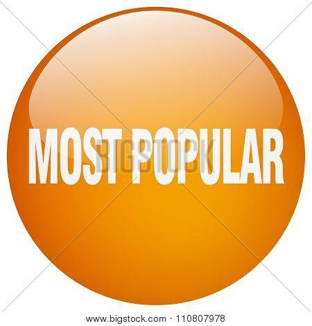 Most Popular Orange Round Gel Isolated Push Button