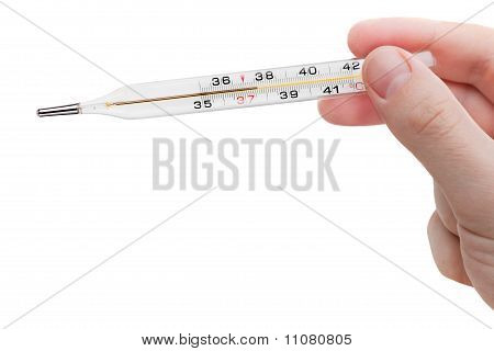 Medicine Thermometer In Hand
