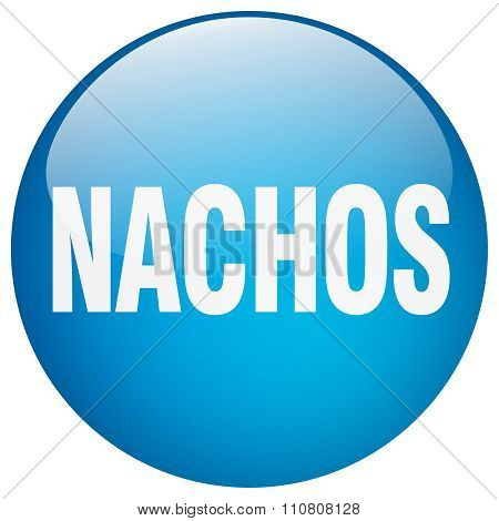 Nachos Blue Round Gel Isolated Push Button