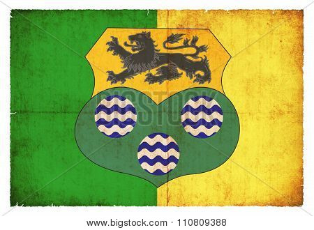 Grunge Flag Of Leitrim (ireland)