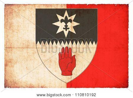 Grunge Flag Of Tyrone (ireland)