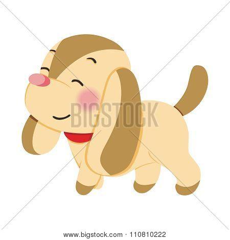 Vector Cartoon Long Ears Dog