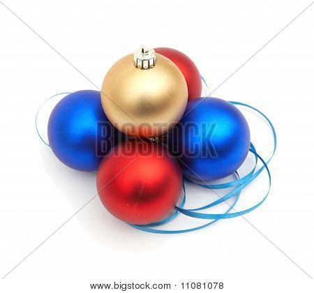 Rote und Blaue Weihnachten Blubs
