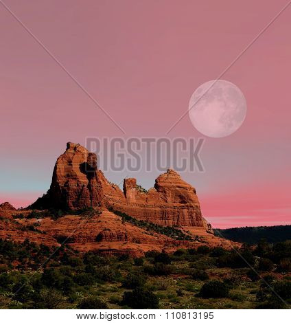 Moonrise Sedona Arizona