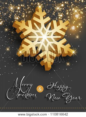 Merry christmas happy new year easy all editable