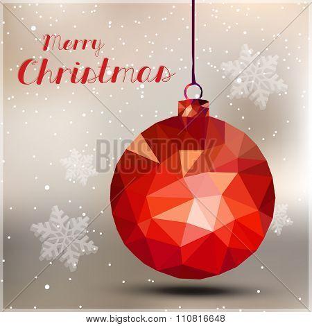 Merry christmas ball easy all editable