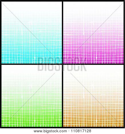 Gradient White Stripe Grid Pattern Over Multiple Color