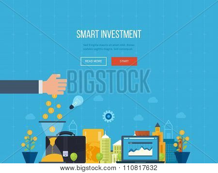 concept for smart investment, finance, banking, strategic management,