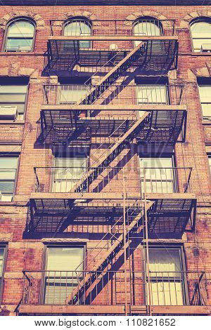 Vintage Style Photo Of New York Building, Usa.