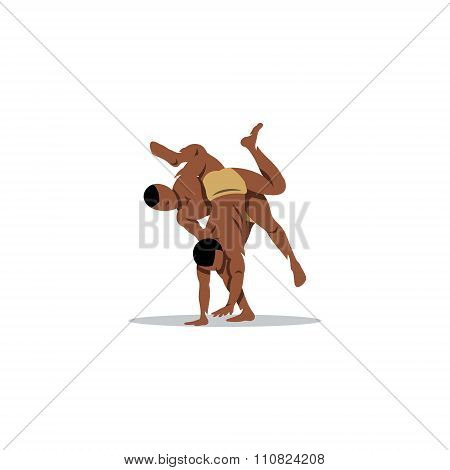 Kushti. Vector Illustration.
