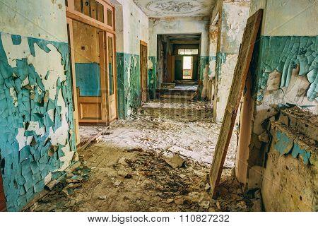 Abandoned Old House Interior. Forsaken building