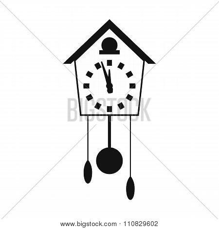 Cuckoo clock simple icon