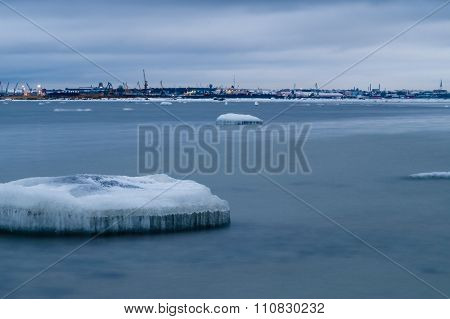 Ice Floes Of Baltic Sea