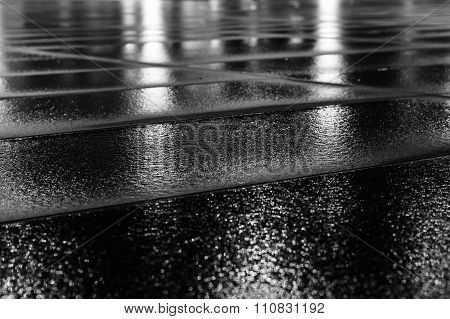 Wet Paving Slab After Rain