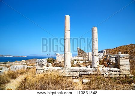 Famous   In Delos   The Acropolis And Site