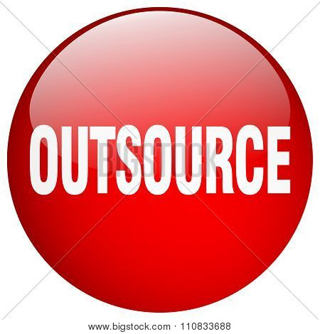 Outsource Red Round Gel Isolated Push Button