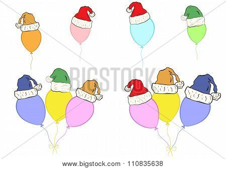 Clipart with Christmas balloons