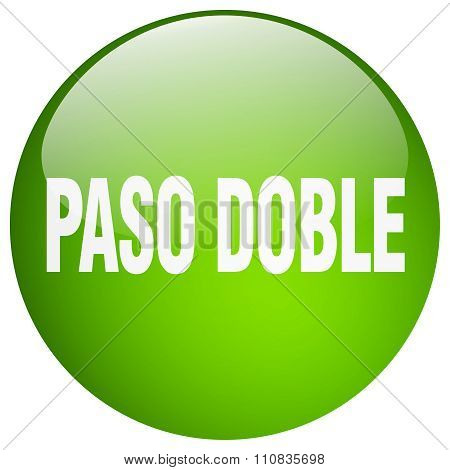 Paso Doble Green Round Gel Isolated Push Button