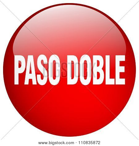 Paso Doble Red Round Gel Isolated Push Button