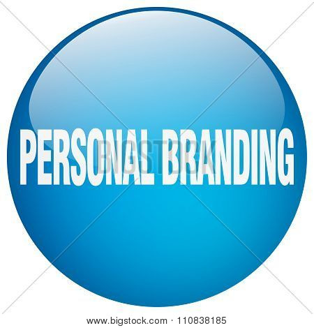 Personal Branding Blue Round Gel Isolated Push Button