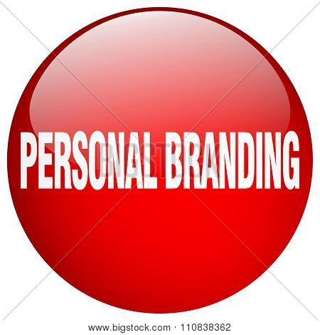 Personal Branding Red Round Gel Isolated Push Button