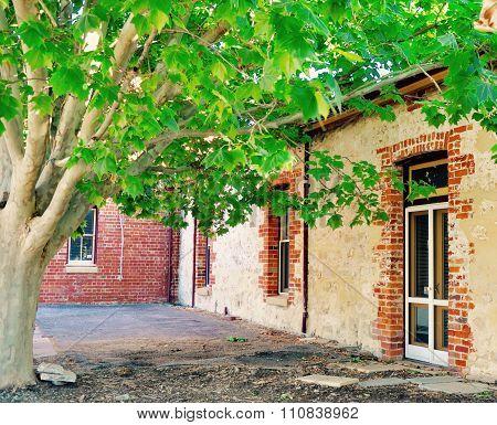 Limestone and Brick: Courtyard