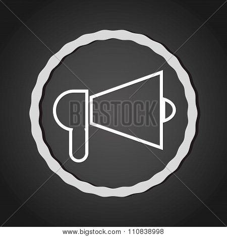 Bullhorn megaphone line icon