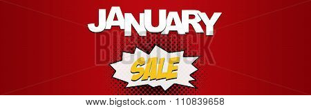 January christmas sale web banner seasonal savings