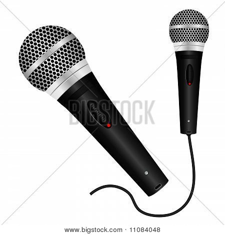 Icon with a black microphone