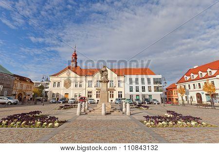 Masarykovo Square In Brandys Nad Labem, Czech Republic