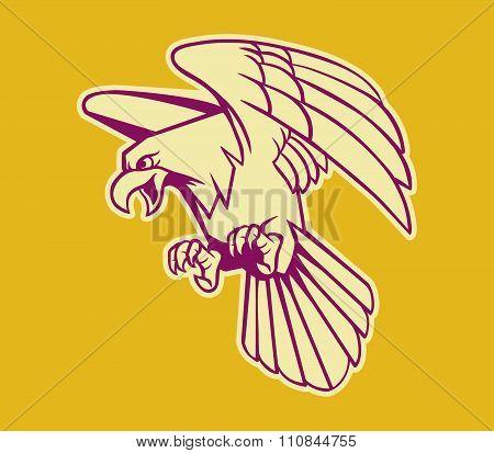 Bald Eagle Retro Color
