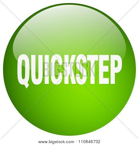 Quickstep Green Round Gel Isolated Push Button